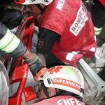 Bomberos de Zaragoza en plena intervención