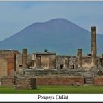 Pompeya, Septiembre de 2008. Vista general con el Vesubio al fondo